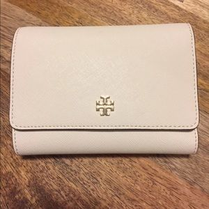 Tory Burch white wallet